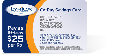 LYRICA Samples & Co-Pay Savings Card | Pfizer for Professionals