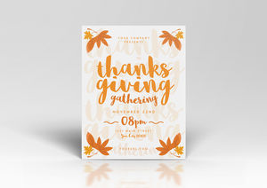 Simple Thanksgiving Flyer Template