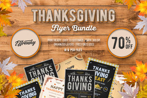 Thanksgiving Flyer Bundle