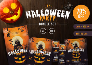 Halloween Themed Template Bundle