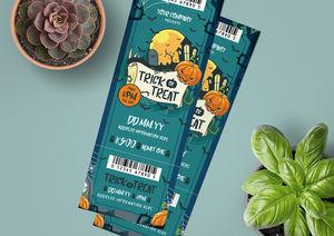 Halloween Ticket Template