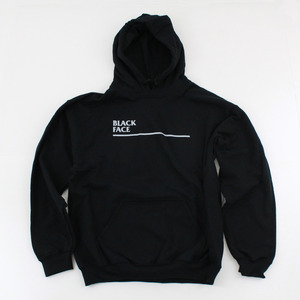 Black Face: White Line Pullover Hoodie thumb