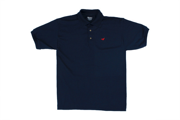 Unicorn navy blue polo shirt stuckey and murray for Navy blue shirt online