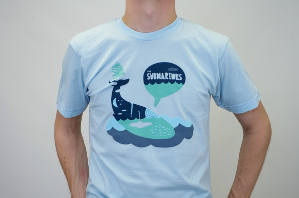 Whale t shirt the submarines online store apparel for Whale emblem on shirt