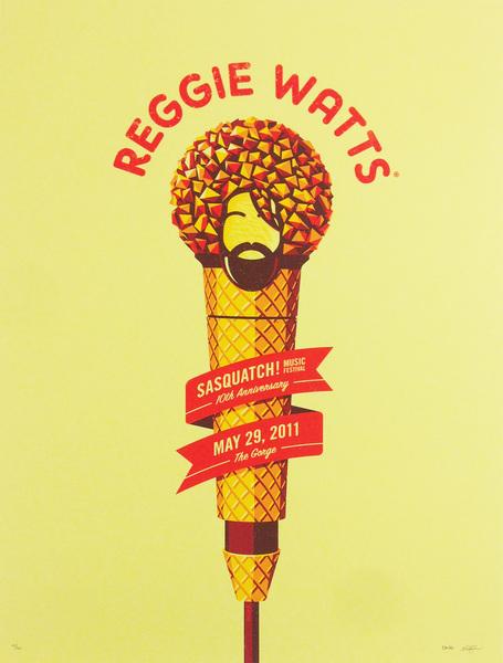 Sasquatch Music Fest Poster | Reggie Watts | Online Store