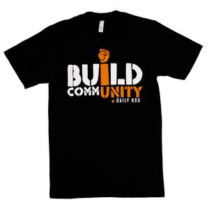 Build CommUNITY (Black) Unisex T-Shirt thumb