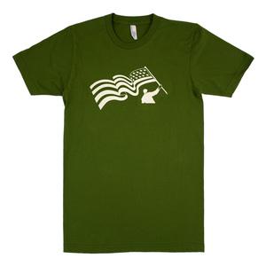 Flag Guy (Olive) Unisex T-Shirt thumb