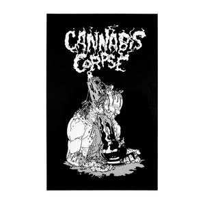 Cannabis Corpse: Skull Full Of Bong Hits Vinyl Sticker thumb
