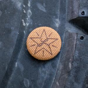 Brown Star / Brown Cloth Pin thumb