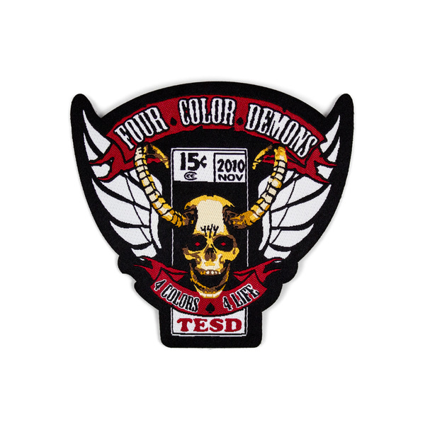 Tesd demons woven patch tell em steve dave online store apparel
