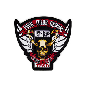 Four Color Demons Woven Patch thumb