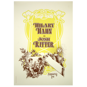 Hilary Hahn + Josh Ritter Tour Poster thumb