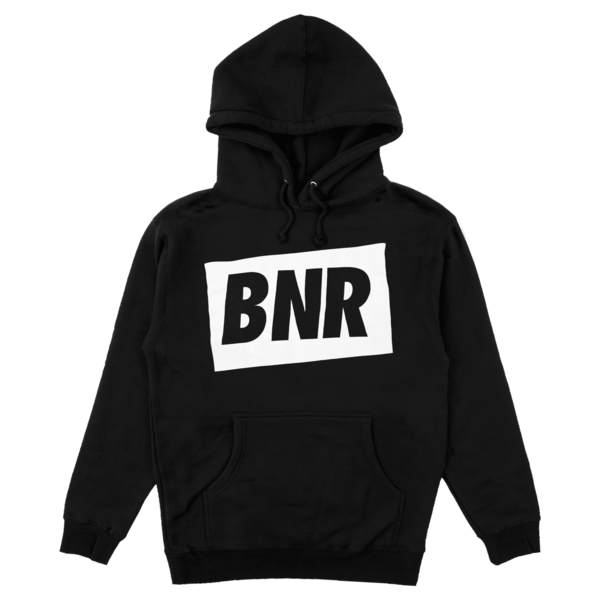 BNR' HOODIE - BLACK W/WHITE | Boysnoize Records | Online Store ...
