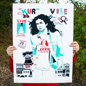 Steve Powers 'Kurt Vile Day' Poster thumb