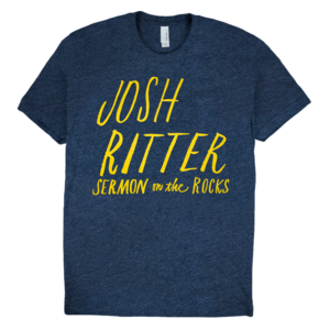 Sermon On The Rocks Text (Heather Navy) T-Shirt  thumb