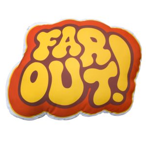 Far Out! Throw Pillow thumb