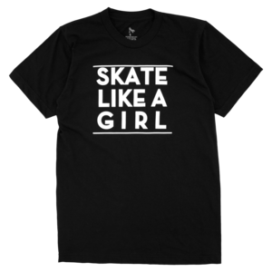 (Black) Skate Like A Girl Tee thumb