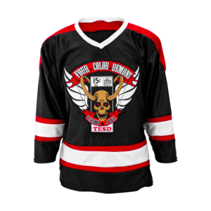 Four Color Demons Hockey Jersey  thumb