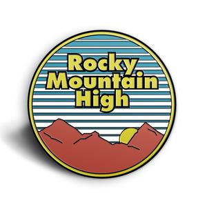 Rocky Mountain High Enamel Pin  thumb