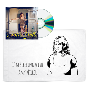 Amy Miller: Solid Gold CD + I'm Sleeping With Amy Miller Pillowcase thumb