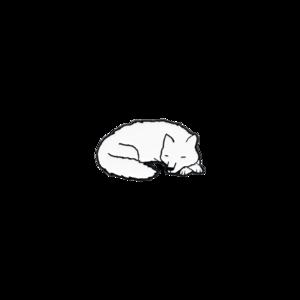 Sleeping Wolf Enamel Pin thumb