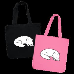 Sleeping Wolf Tote Bag thumb