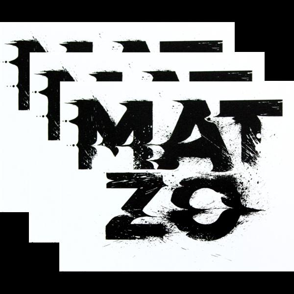 Mz glitch sticker 3pack