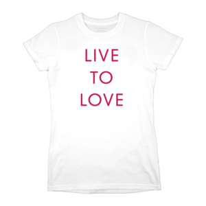 Live to Love (White) Ladies T-Shirt thumb