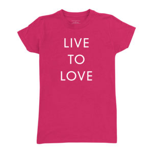 Live to Love (Radish) Ladies T-Shirt thumb