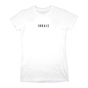 Inhale/Exhale (White) Ladies T-Shirt  thumb