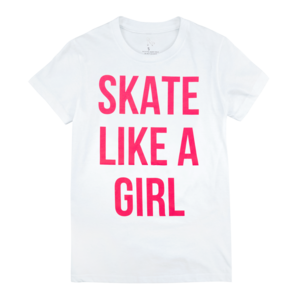 Skate Like A Girl Ladies' T-Shirt  thumb