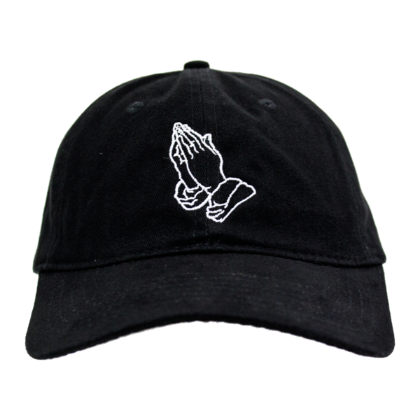 0bdc9ec3ebf44 Prayer Hands Dad Hat (Black)