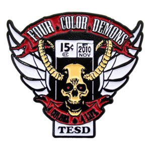 Four Color Demons Enamel Pin thumb