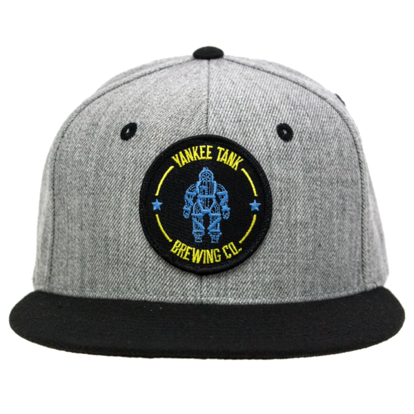 Grey/Black Hat with Logo Patch (Yankee Tank Brewing Co) thumb