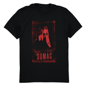Sumac: Mary T-Shirt (Red Ink on Black) thumb