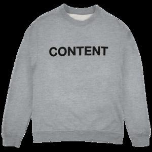 Joywave: Content Crewneck (Grey) thumb