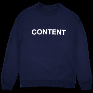 Joywave: Content Crewneck (Navy) thumb