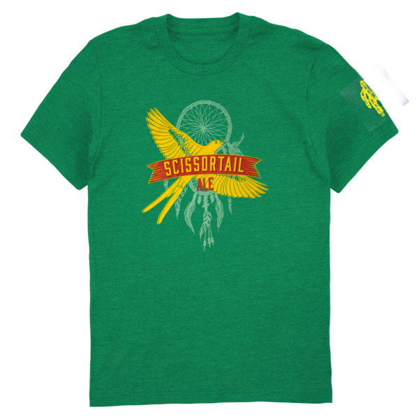 Scissortail Ale Tee (Heathered Green) thumb