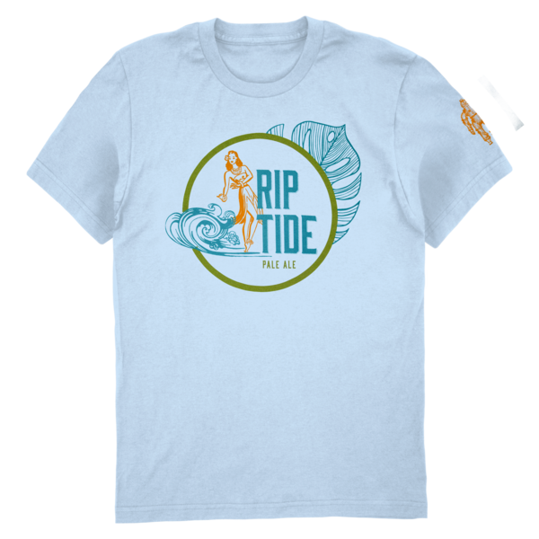 Riptide Pale Ale Tee - Leaf (Baby Blue) thumb