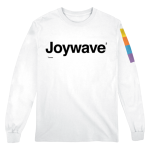 Joywave: Footnote Two Longsleeve Tee (White) thumb