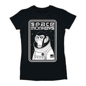 Space Monkeys Ladies (Black) T-shirt thumb