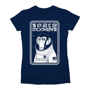 Space Monkeys Ladies (Navy) T-shirt thumb
