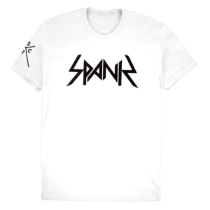 The Bloody Beetroots: Spank Slim Tee (White) thumb