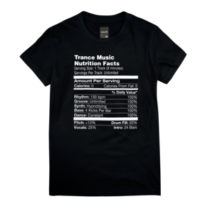 Nutrition Facts Trance Ladies Tee thumb