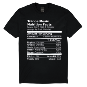 Nutrition Facts Trance Tee thumb