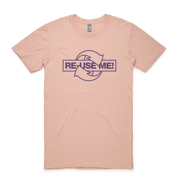 Reuseme pms7447 5001 staple tee pale pink front