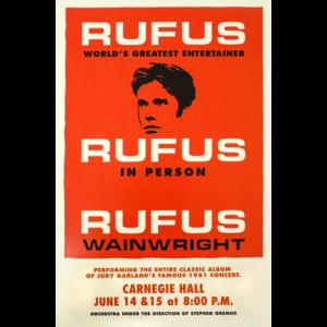 Rufus Does Judy - 2006 Carnegie Hall Poster (Original) thumb