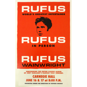 Rufus Does Judy - 2016 Carnegie Hall Poster thumb