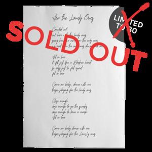 [PRE-ORDER] Ben Nichols Handwritten Lyric Sheet  (Ships week of Aug. 3rd, 2018) thumb