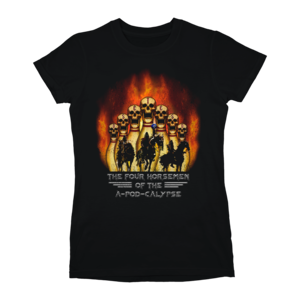 [PRE-ORDER] 4 Horsemen of the APODcalypse Ladies T-Shirt (Ships week of Jun. 22nd, 2018) thumb